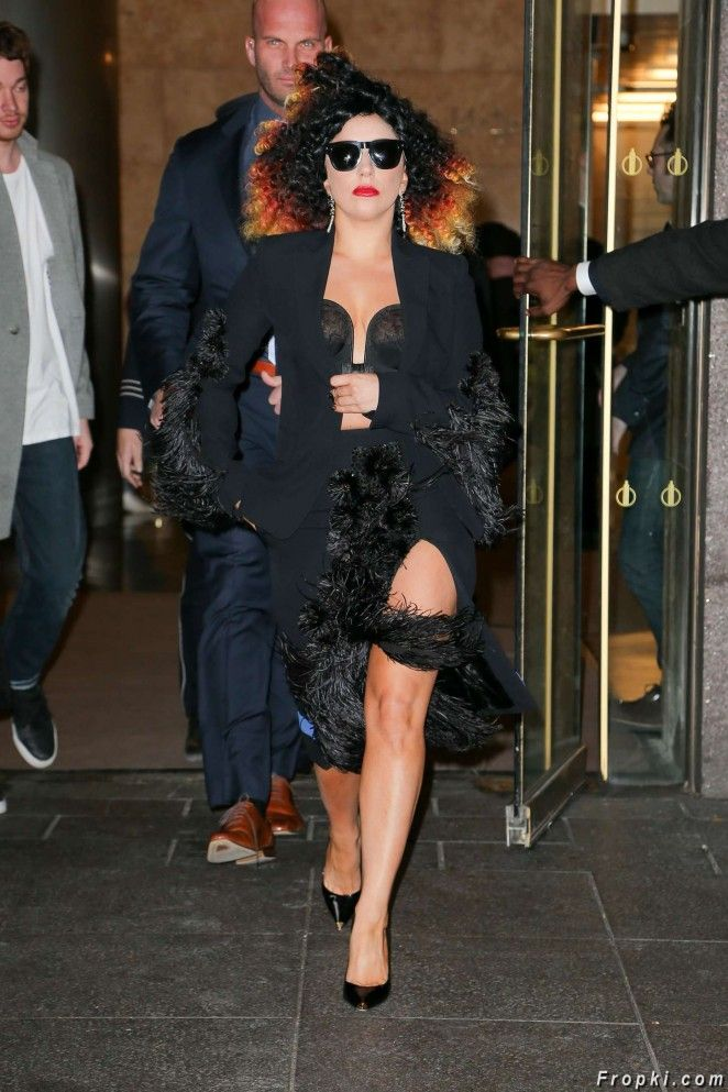 Lady Gaga Street Style out in NYC