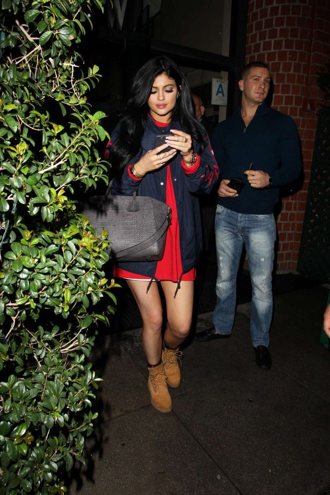 Kylie Jenner in Red Mini Dress