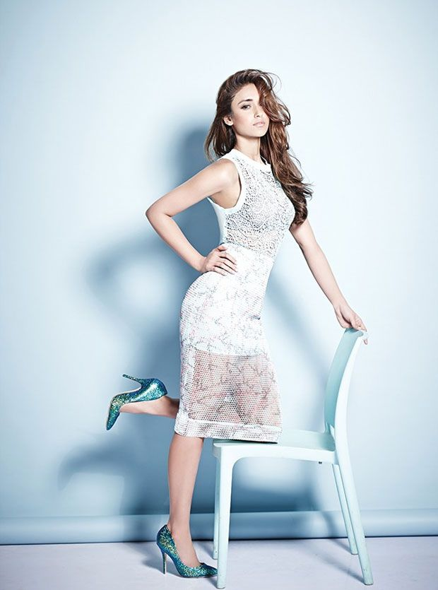 Ileana D'Cruz Is Smoking Hot In White Lacy Dress