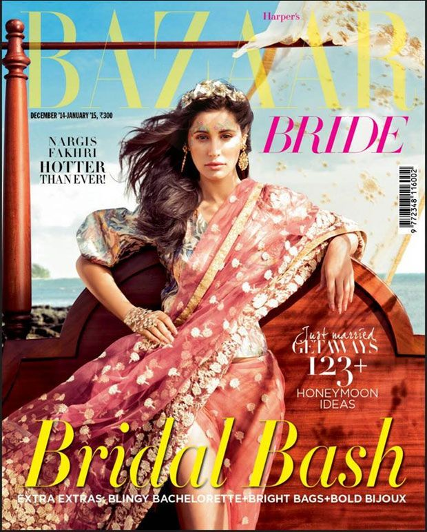 Nargis Fakhri in Bridal Couture in Harper' Bazaar