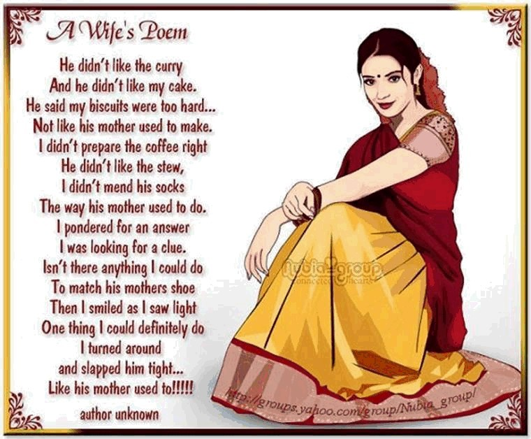 Indian wife's poem