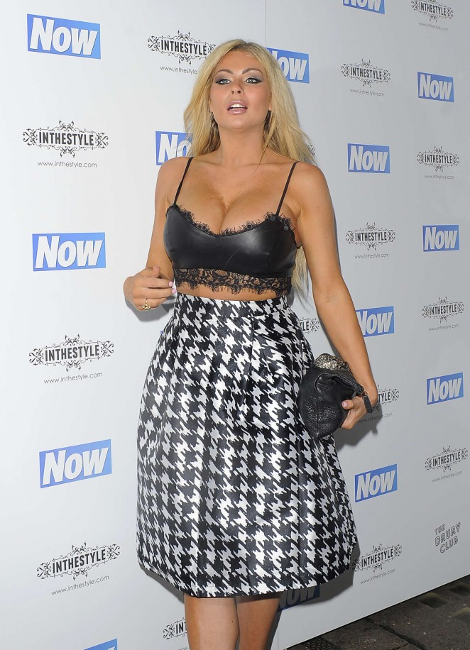 Nicola McLean Now Christmas Party In London