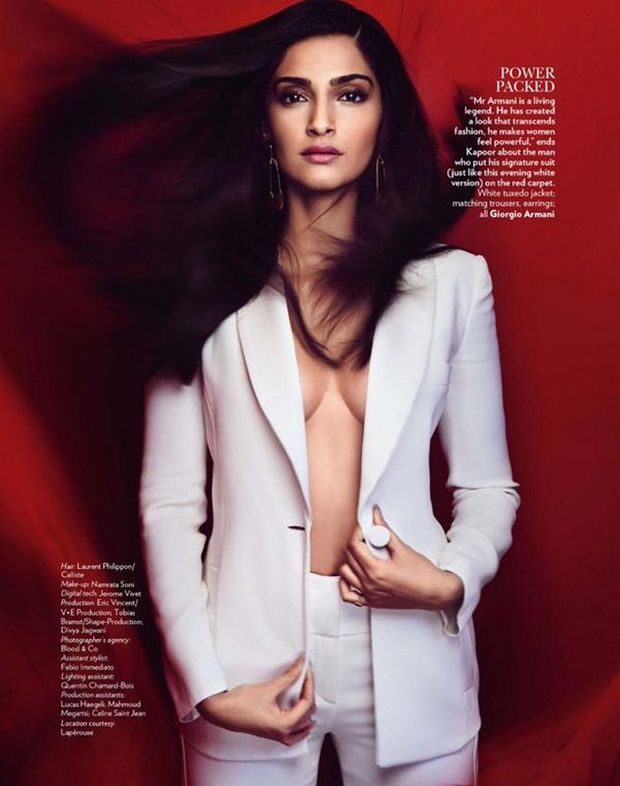 Sonam Kapoor on Vogue Magazine April 2015