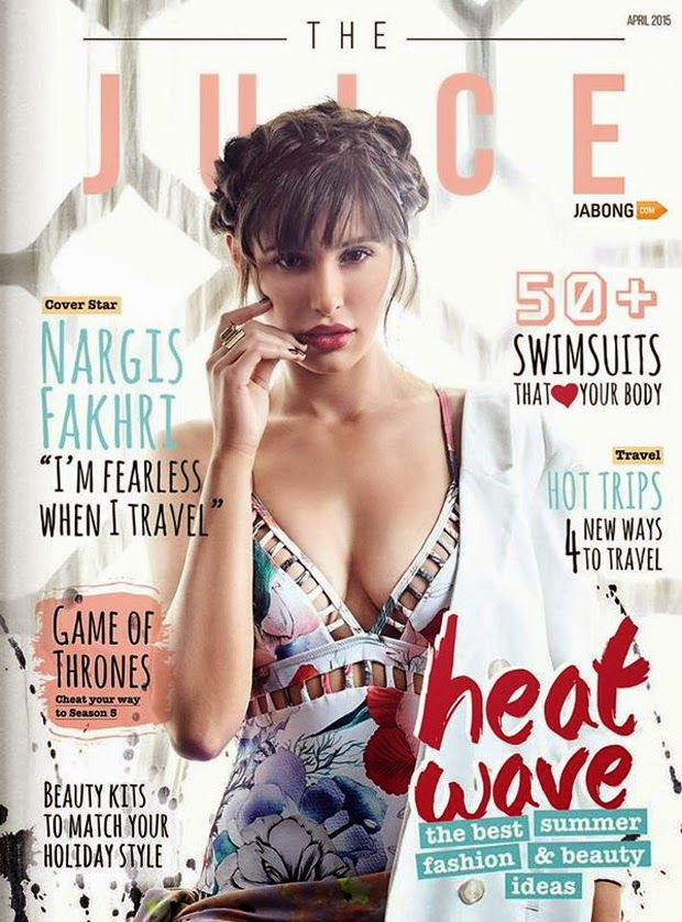 Nargis Fakhri juices up the cover of The Juice