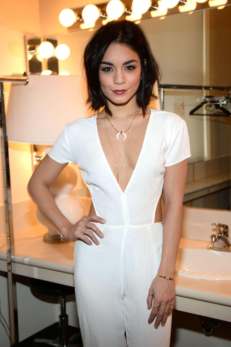 Vanessa Hudgens backstage at the view in New York