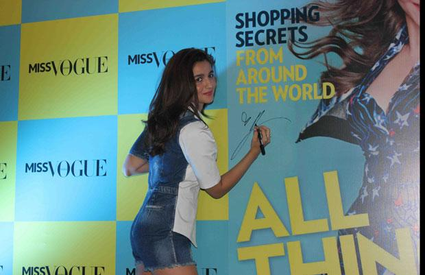 Cover Girl Alia Bhatt Launches Miss Vogue's First Issue
