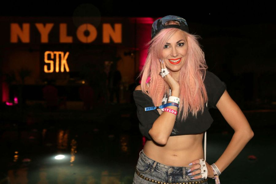 Bonnie McKee by the Pool in NYLON Garden Party