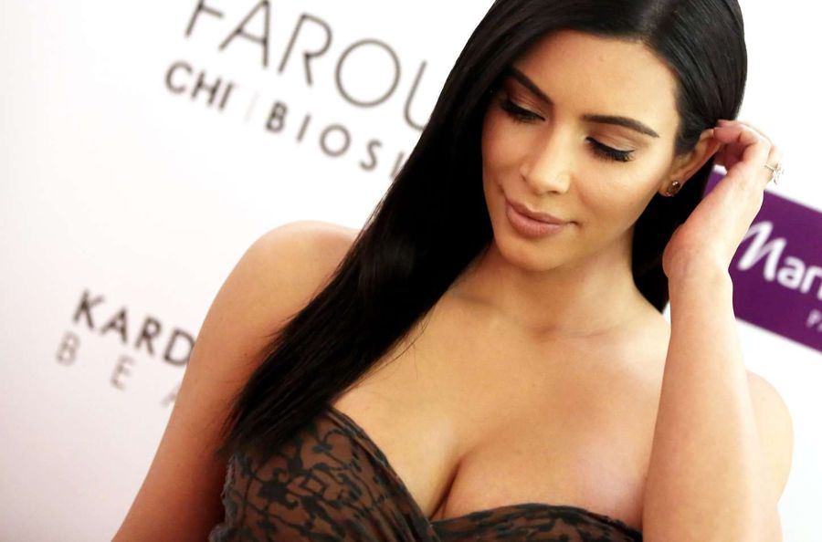 Kim Kardashian Promoting 'Beauty Hair' Hair Line