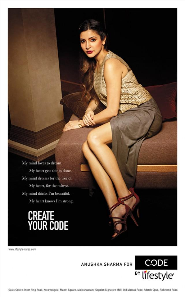 Anushka Sharma PhotoShoot for Brand Code by Lifestyle