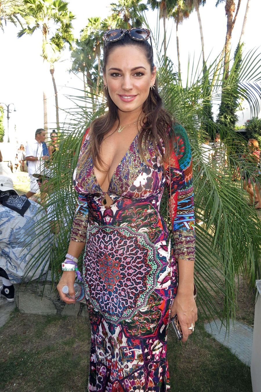 How low can you go? Kelly Brook in boho dress