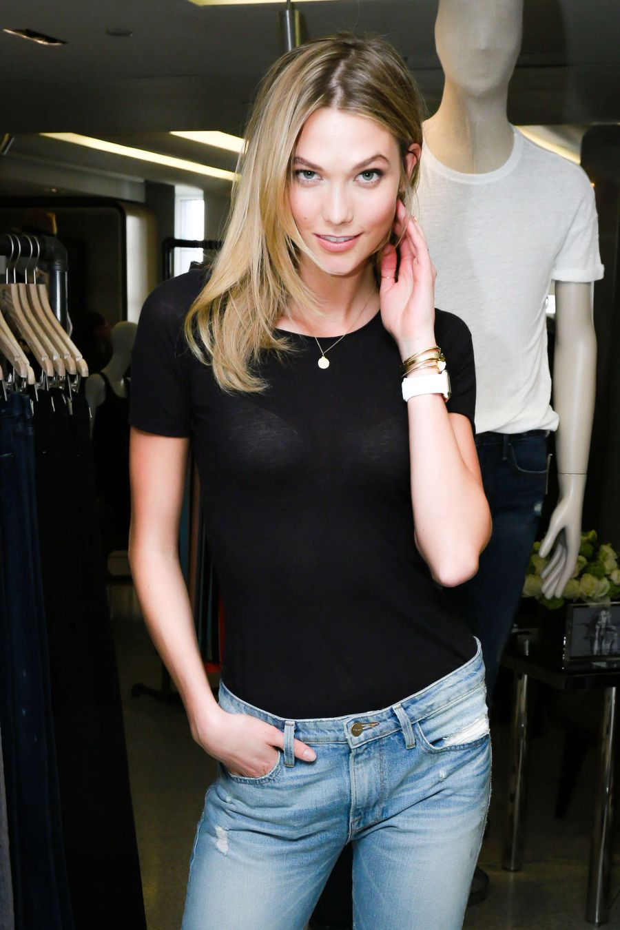 Karlie Kloss X Frame Denim Meet And Greet In Nyc