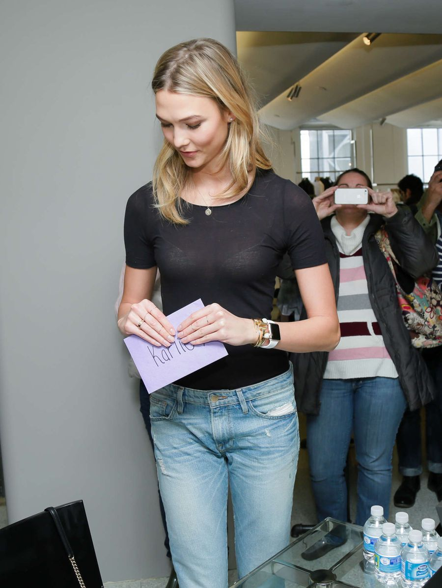 Karlie Kloss - X Frame Denim Meet and Greet in NYC