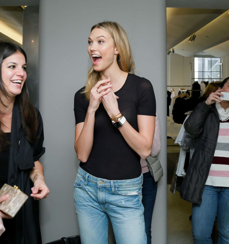 Karlie Kloss X Frame Denim Meet And Greet In Nyc Page 13