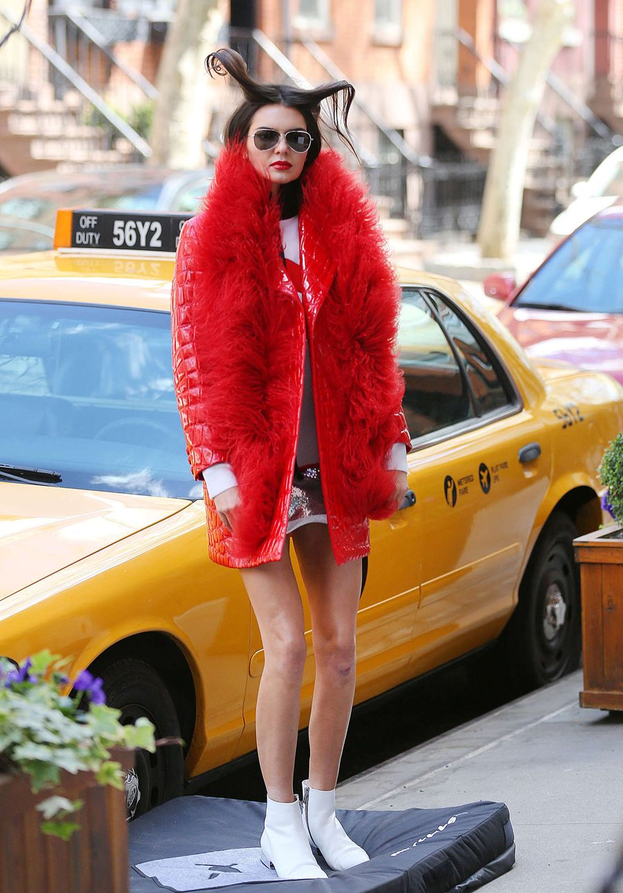 Kendall Jenner on a Vogue Photoshoot in NYC