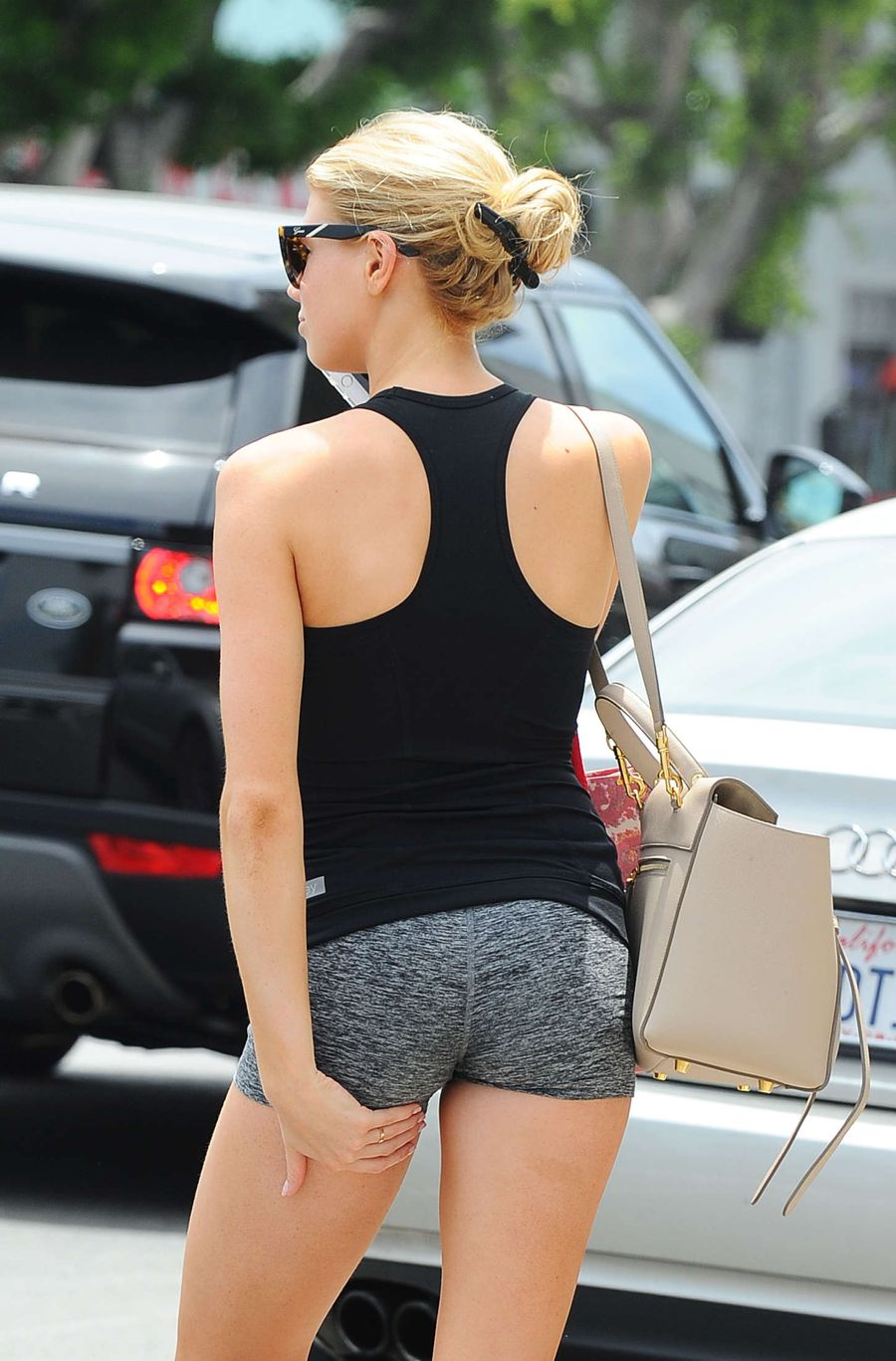 Charlotte McKinney in Shorts Out and about in LA