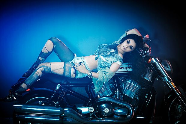 Alia Bhatt Latest Hot pose on bike