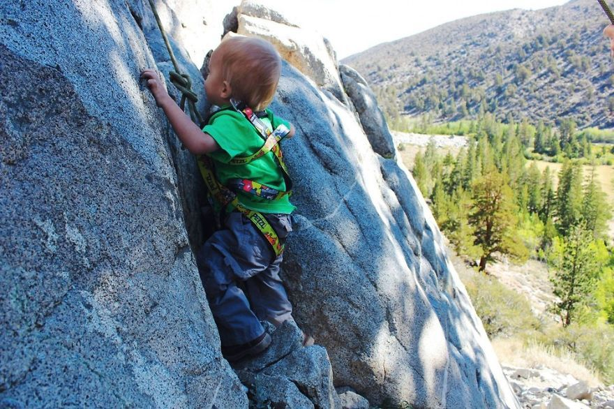 Before Turning 2 Years Old, Kid Hiked More Than 483 Km