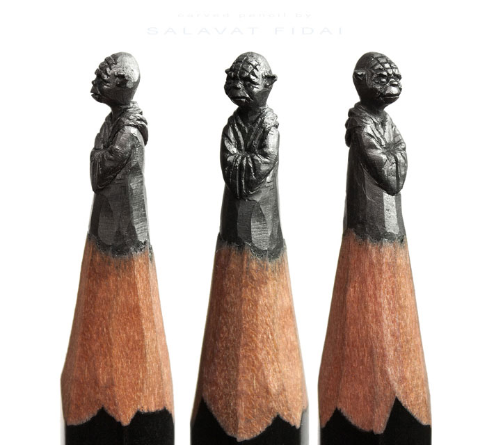 Pencil Tip Sculptures of Pop-Culture