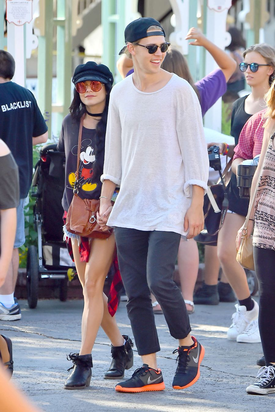 Vanessa Hudgens on Boyfriend's Bday at Disneyland