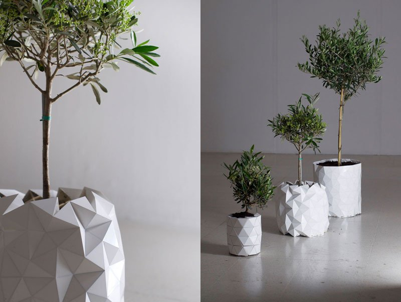 A Flower Pot That Grows as the Plant Does