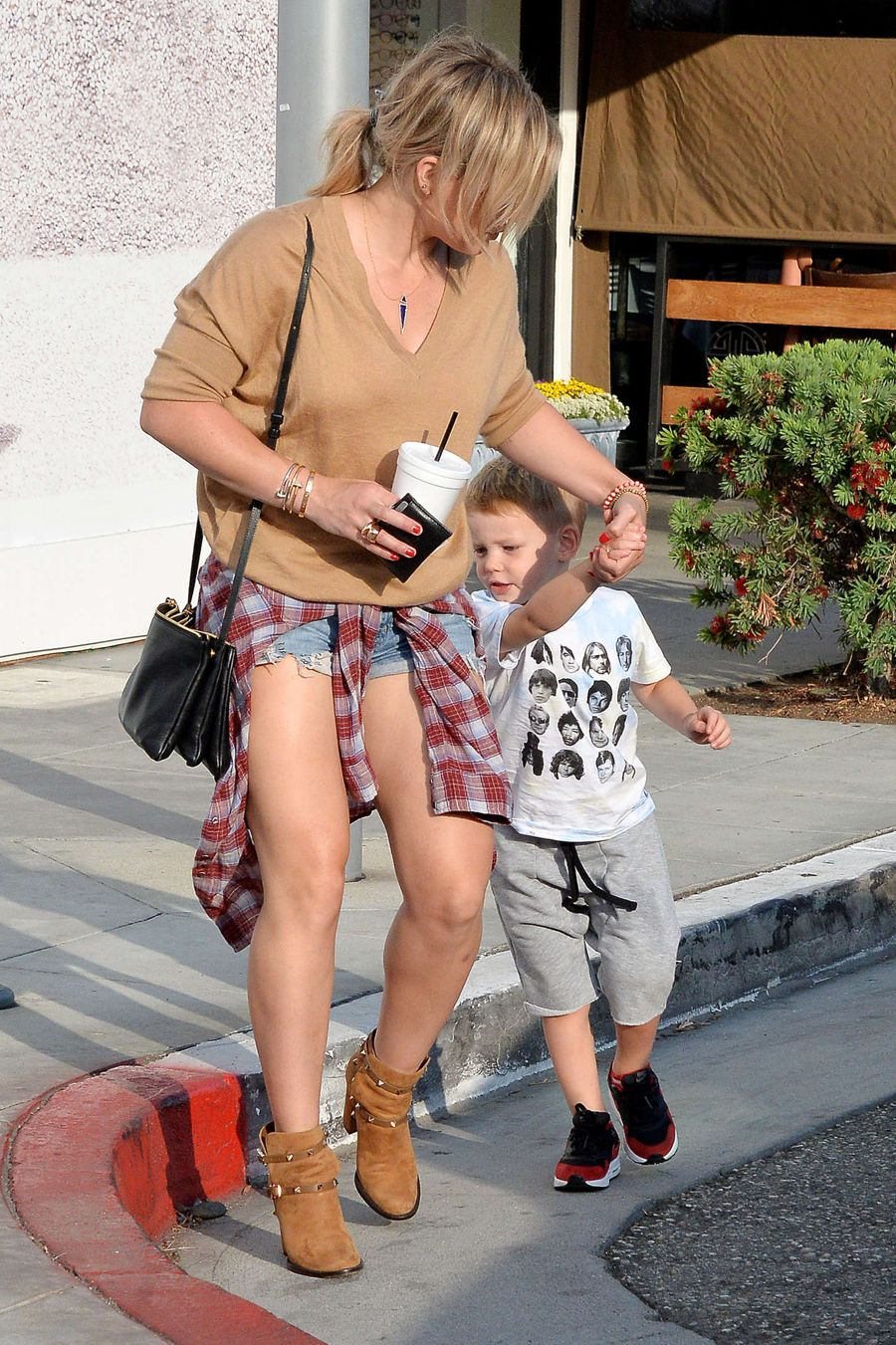 Hilary Duff - Out with her son in Beverly Hills
