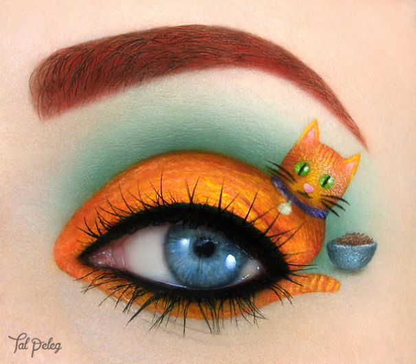 Eyes Used As A Canvas For Art