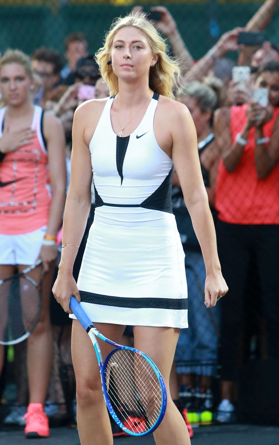 Maria Sharapova - Nike's 'NYC Street Tennis' Event in NYC