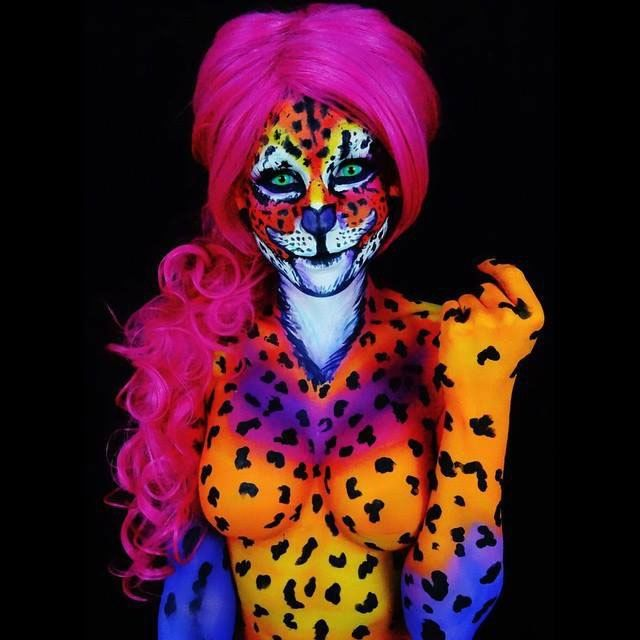 Bodypainter Transforms Herself Into Beautiful Nightmares