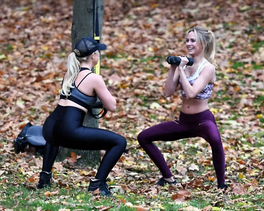 Kimberley Garner - Workout in Hyde Park