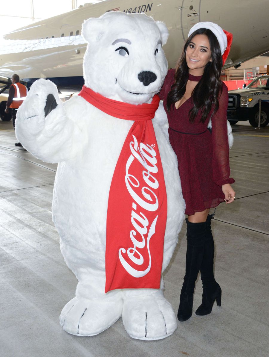 Shay Mitchell - Delta Air Lines 'Holiday In The Hangar'