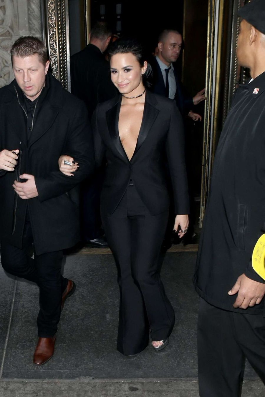 Demi Lovato - Leaving her hotel in Black Tuxedi