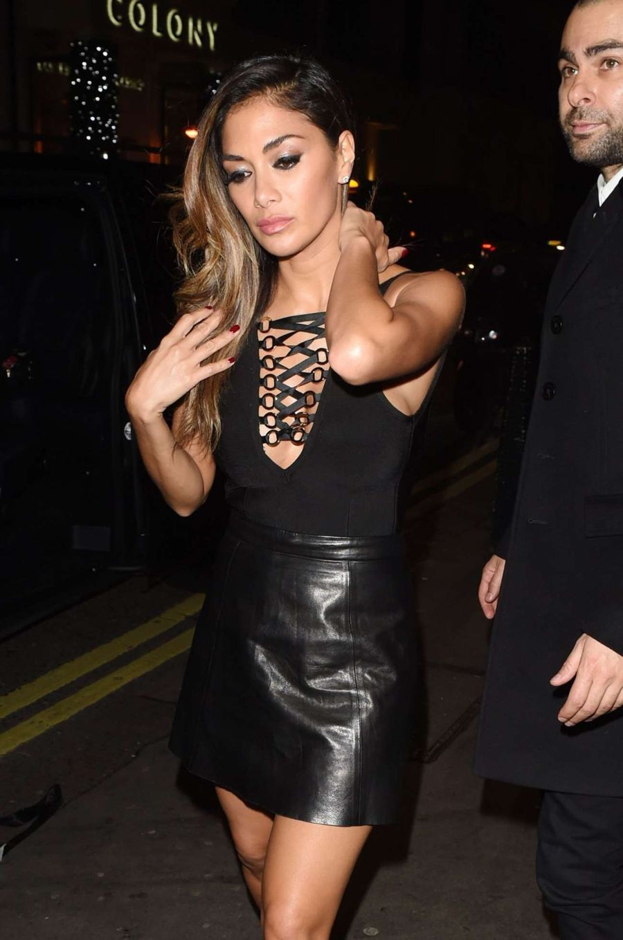 Nicole Scherzinger Fab in Black Outside Drama Nightclub