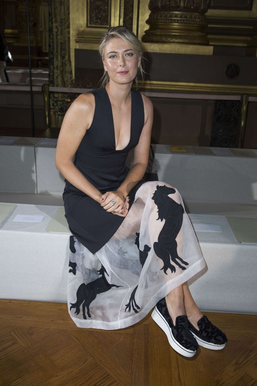 Maria Sharapova - Stella McCartney Fashion Show in Paris