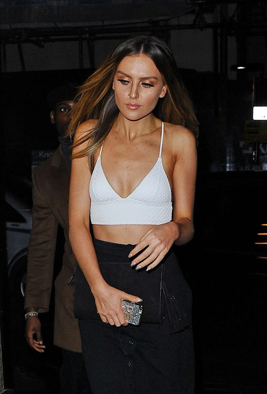Perrie Edwards at Fish Restaurant in London