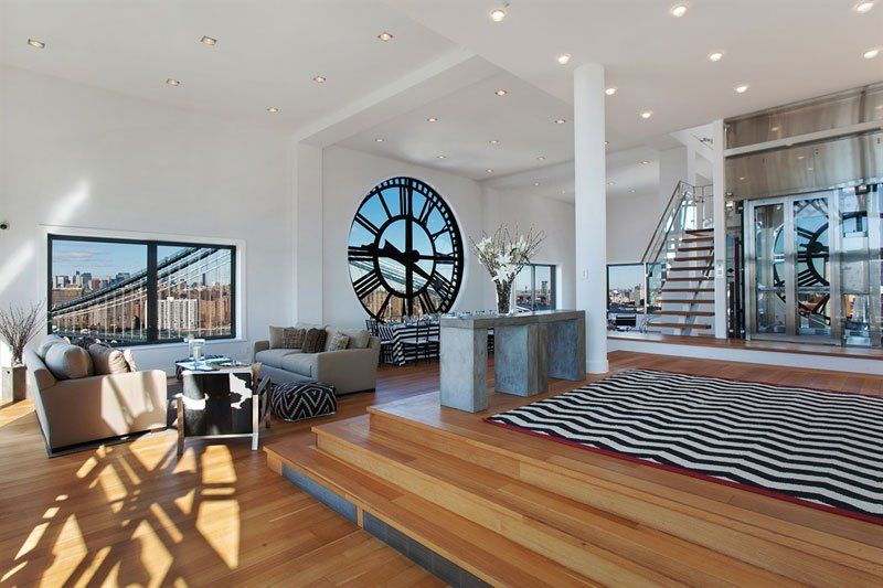 An Old Clock Tower Converted Into a Penthouse