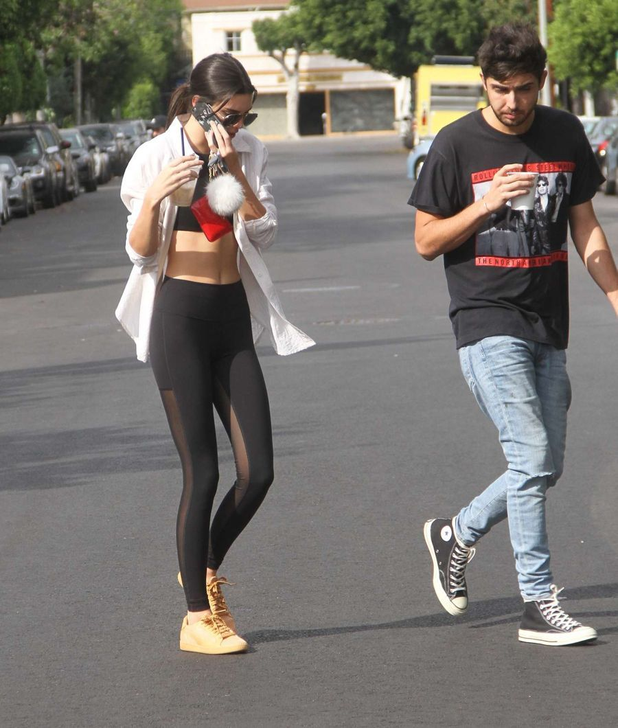 Kendall Jenner Out in Shape Defining Lowers
