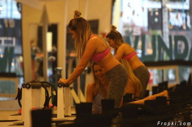 Ashley Tisdale - Gym Workout in Studio City