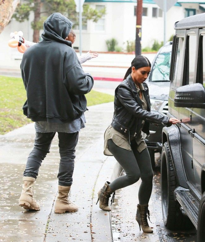 Kim Kardashian Out in Brentwood