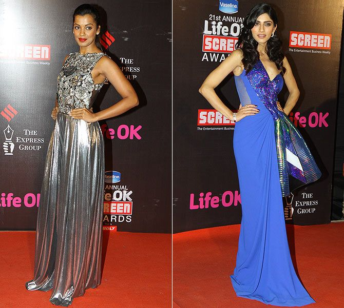 Celebs fashionable turn at Screen awards
