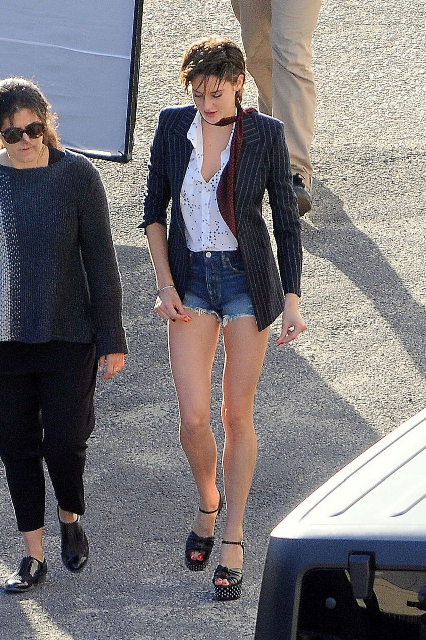 Shailene Woodley in Denim Shorts