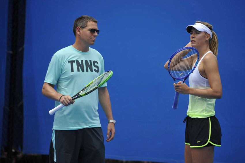 Maria Sharapova - Practice Session in Melbourne