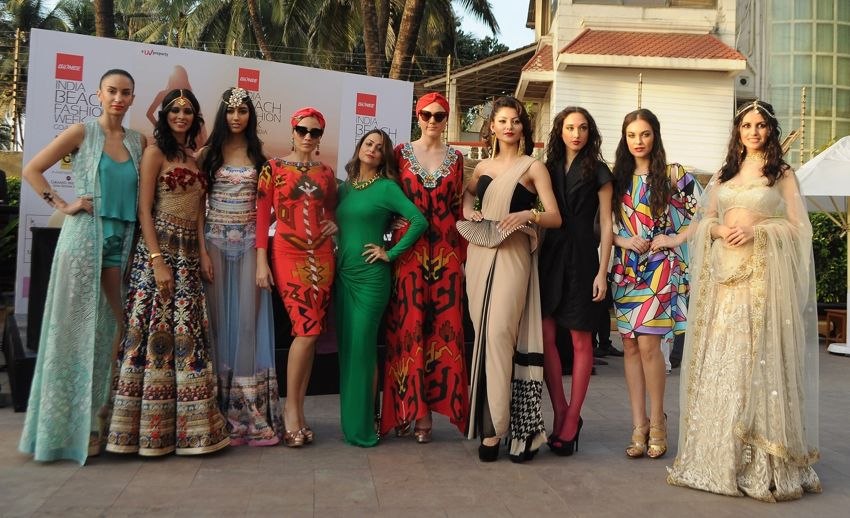 Urvashi Rautela & Amrita Arora at India Beach Fashion Week