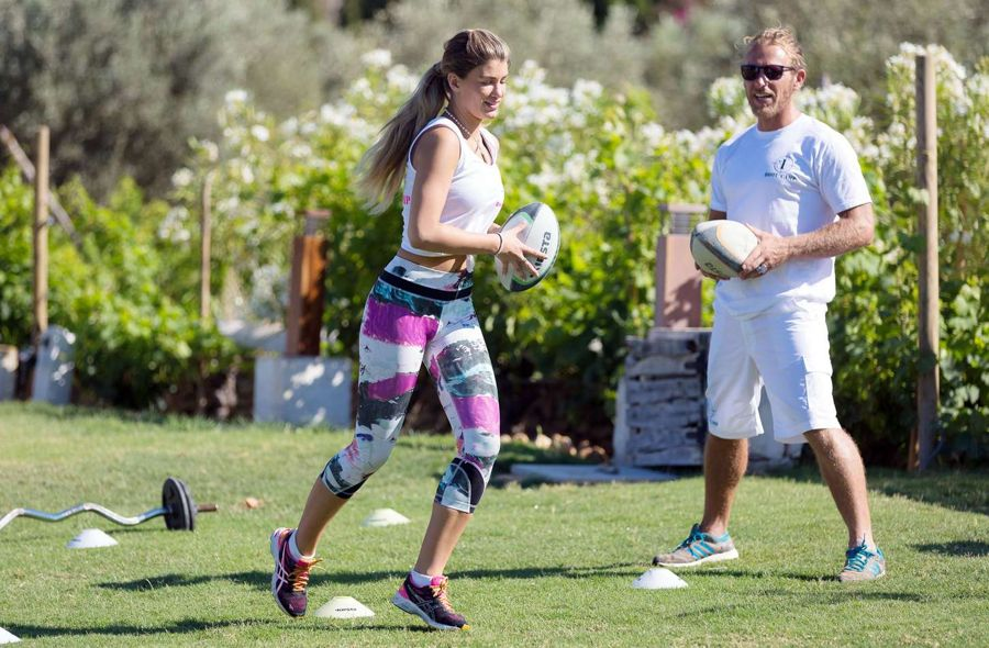 Amy Willerton Working Out in Ibiza