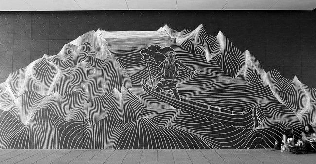 Artist Uses Tape to Create Striking Images