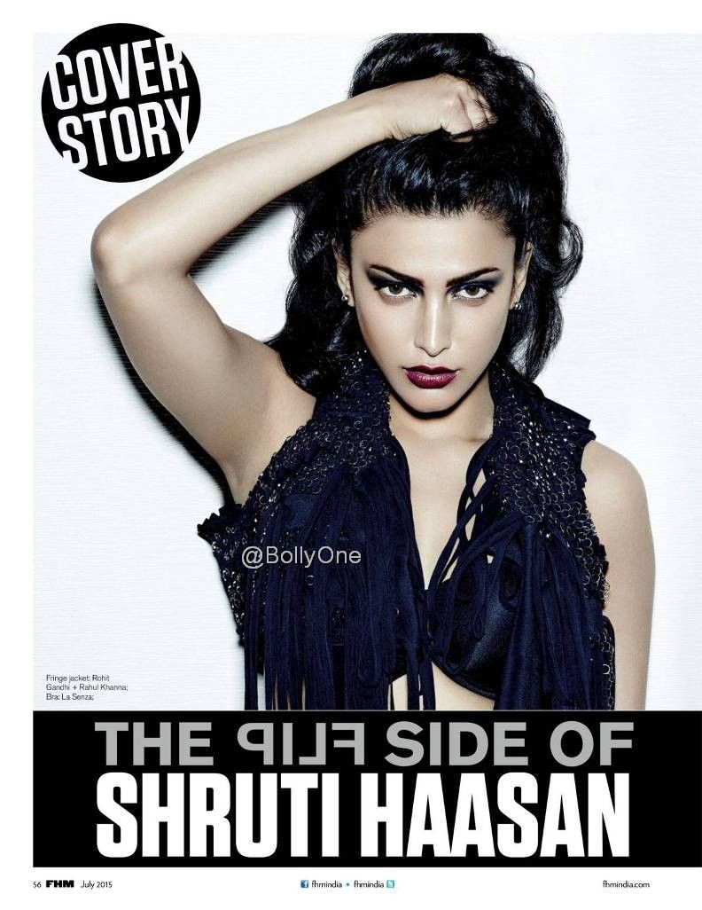 Shruti Haasan Poses For the FHM magazine July 2015