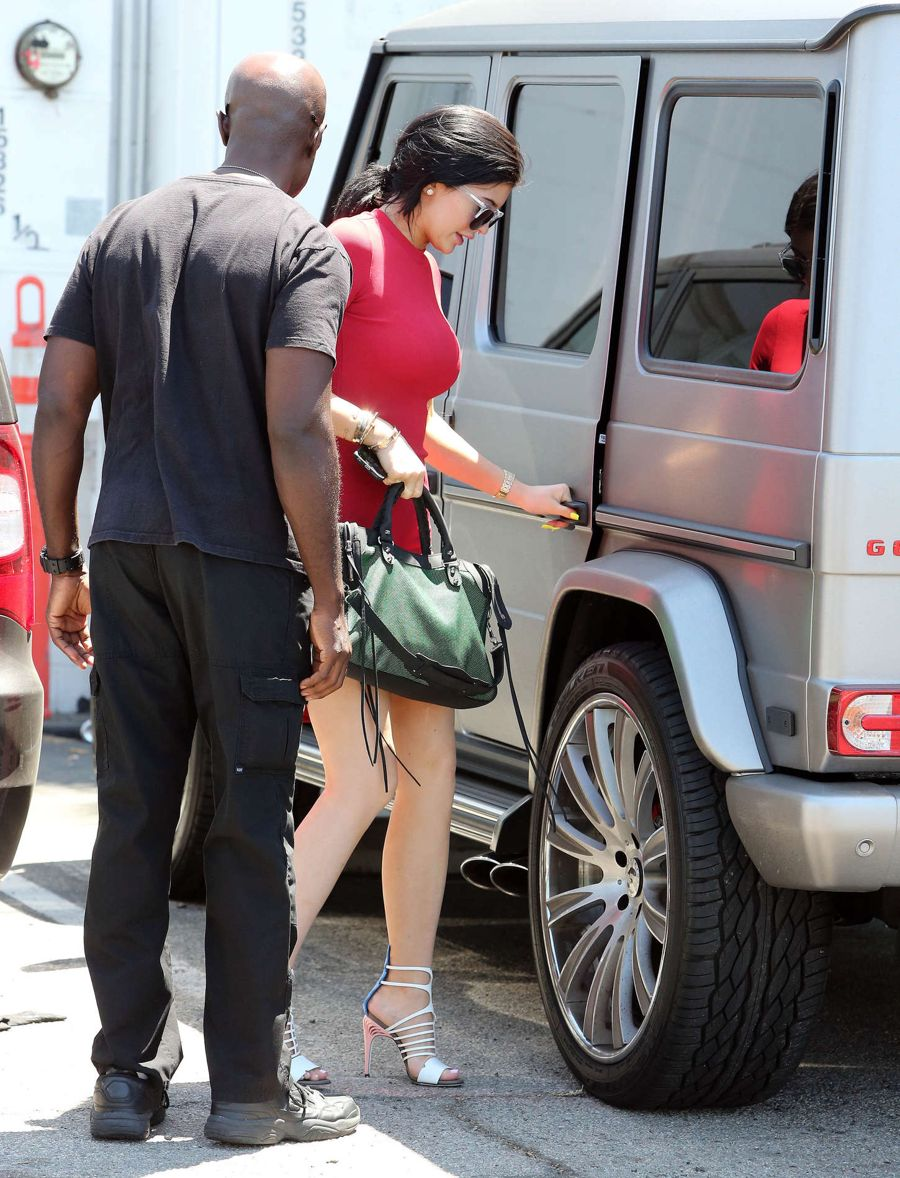 Kylie Jenner in Mini Dress Out in Sherman Oaks