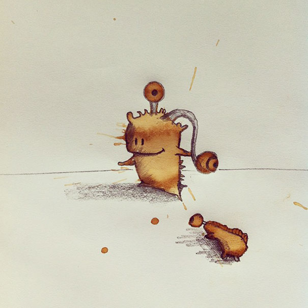 Random Coffee Stains Turned Into Monsters