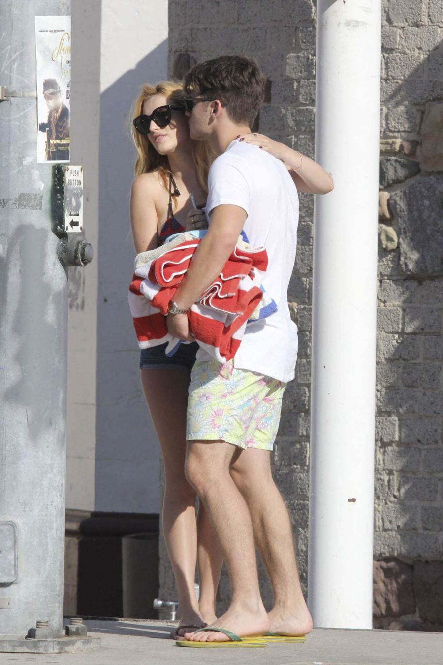 Bella Thorne and Boyfriend Kiss at the Beach