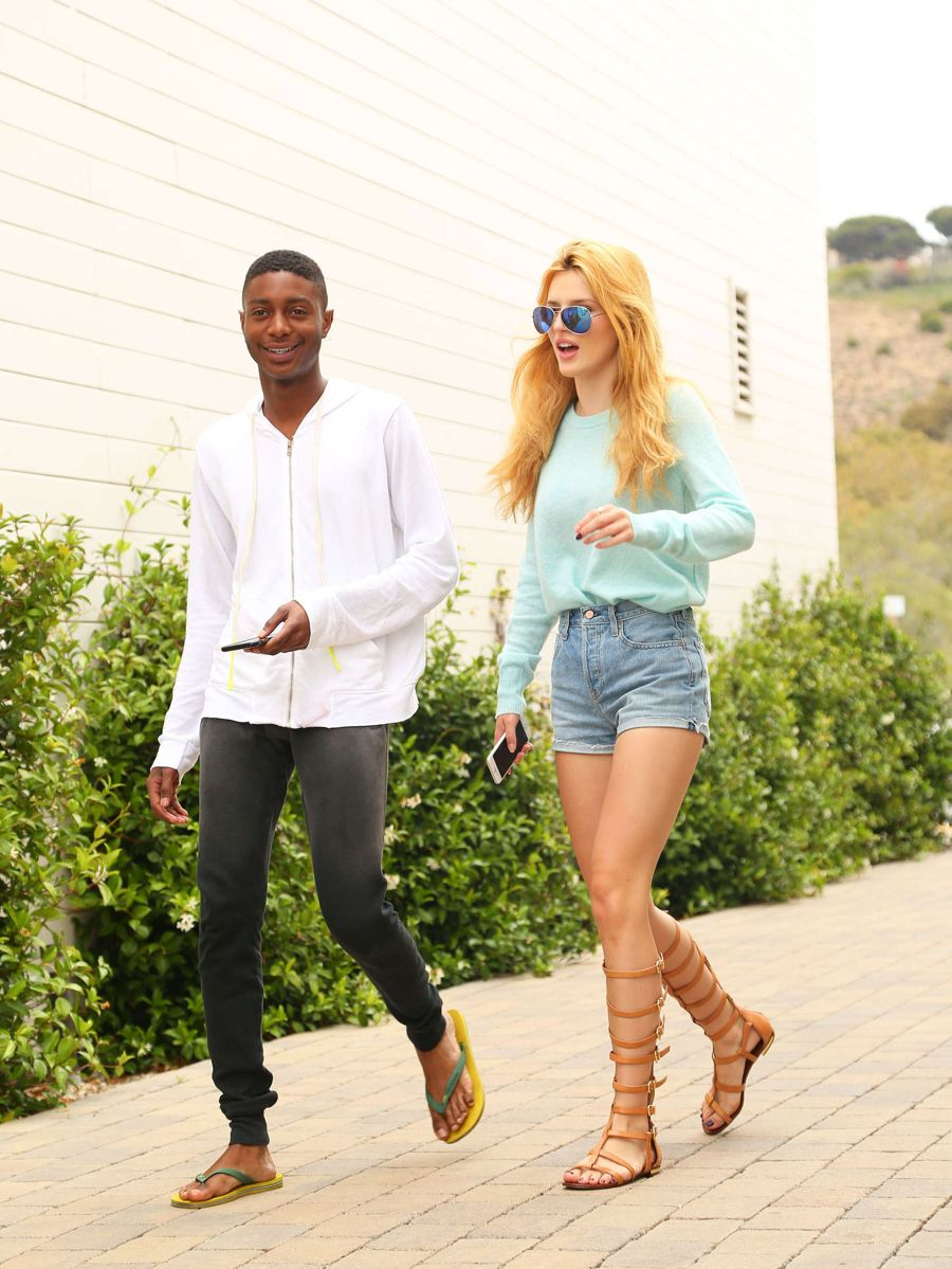 Bella Thorne in Denim Shorts Out and about in Malibu