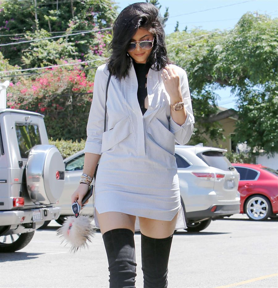 Kylie going out for Lunch in Beverly Hills, California